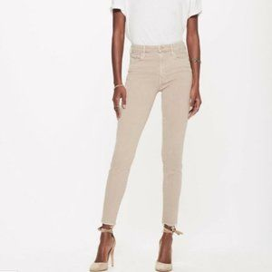 MOTHER The Looker Beige/Off-White Skinny Jeans 29